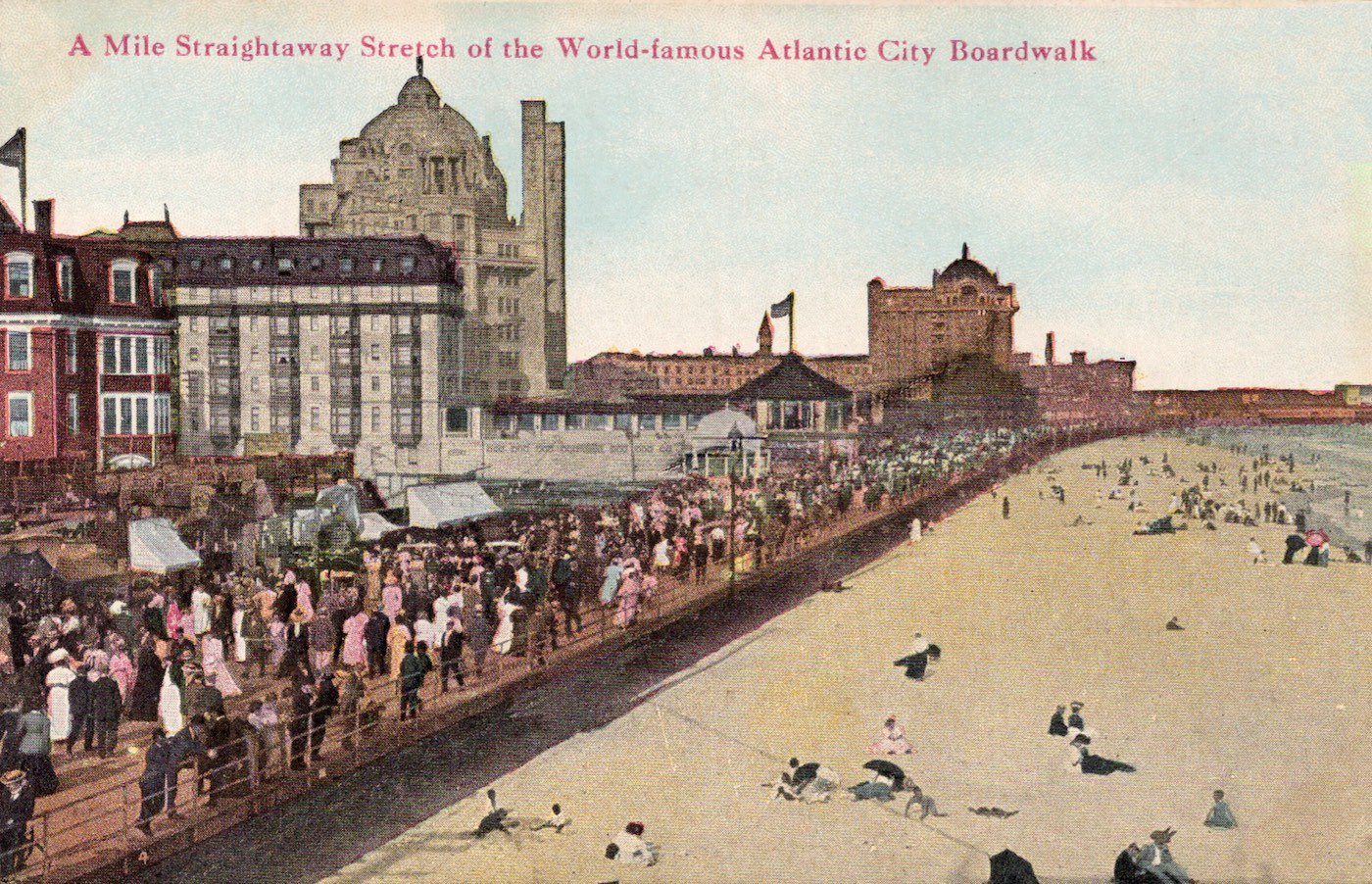 Vintage postcard for Atlantic city boardwalk